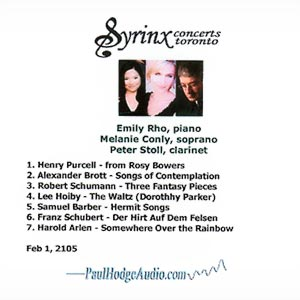 Syrinx Concerts