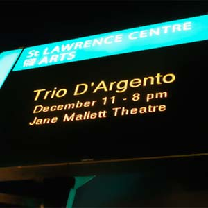 Trio d'Argento at the St. Lawrence Centre for the Arts
