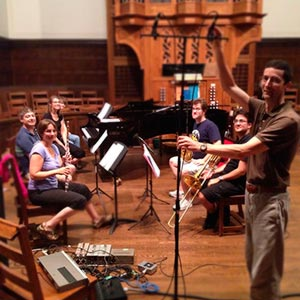 Canadian Brass Recording session