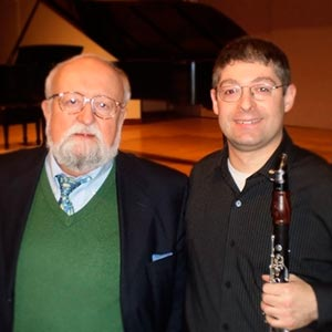 With famed Polish composer Krzysztof Penderecki