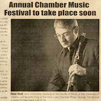 Annual Chamber Music Festival to take place soon