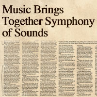Music Brings Together Symphony of Sounds